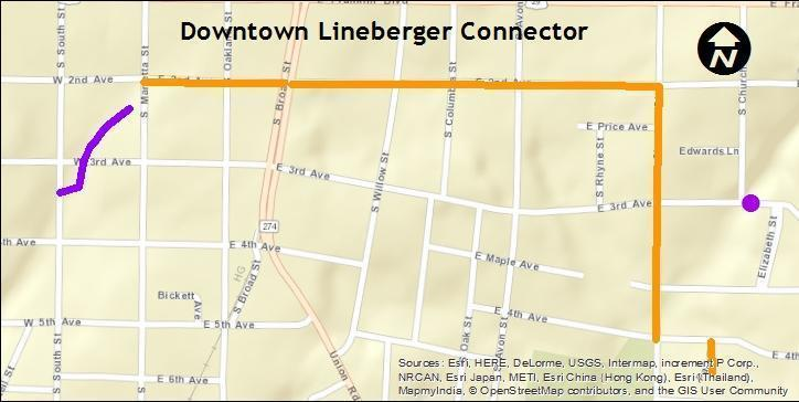 Lineberger Connector Map