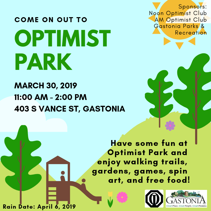 Optimist Park Social Media Post 3.30.19