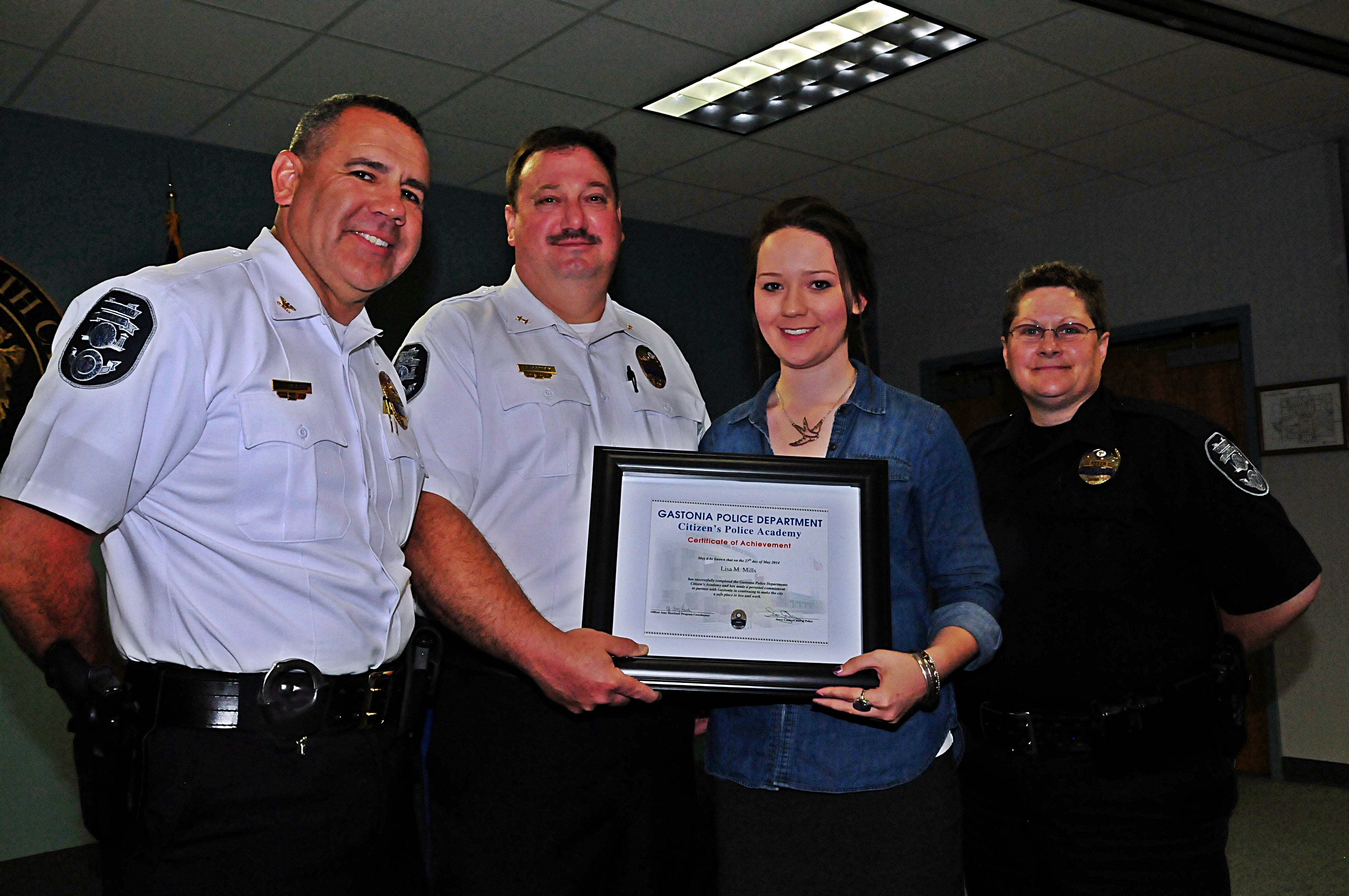 Citizens Police Academy four peeps