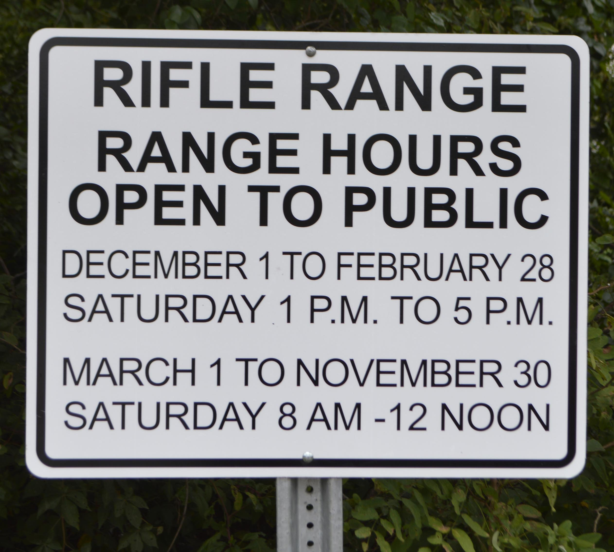 Rifle Range Hours