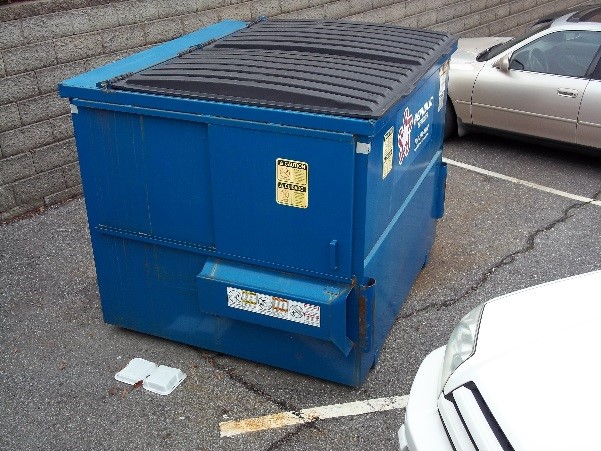 downtown dumpster